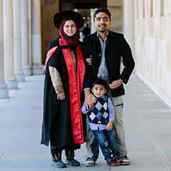 Rubbiya Ali with her family