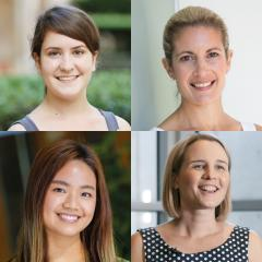 Claudia Stocks, Melanie Shakespear, Amy Chan and Emily Furlong