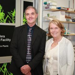 Professor David Craik from IMB and Professor Marilyn Anderson from La Trobe Institute for Molecular Science