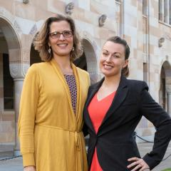 Dr Anna Vinkhuyzen and Hana Starobova will be heading to Antarctica as part of the global Homeward Bound program.b
