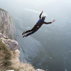 A study delving into the genes of over a million people has found 124 genetic variants associated with risky behaviour, such as jumping off a cliff. Razor527/Shutterstock.com.